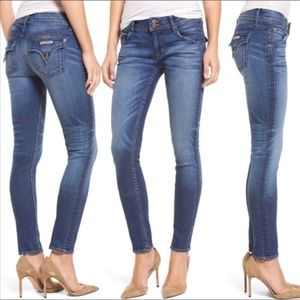 HUDSON JEANS Faded Light Blue Skinny Ankle Jean